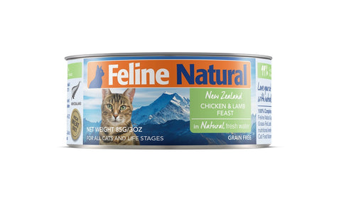 Feline Natural Chicken & Lamb Cat Food Can