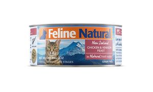 Feline Natural Chicken & Venison Cat Food Can
