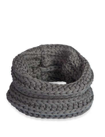 INFINITY SCARF CHARCOAL