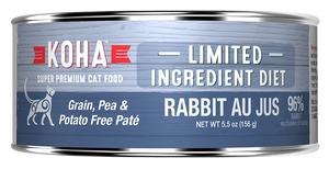 KOHA Rabbit Au Jus Cat Can