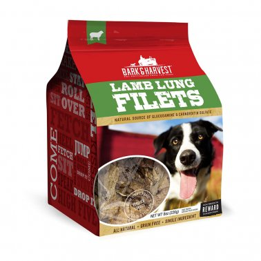Bark Harvest Lamb Lung Filet Dog Treats