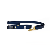 Dog + Bone Adjustable Leash Navy
