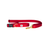 Dog + Bone Adjustable Leash Red