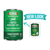 KOHA Turkey Entree Wet Dog Food, 13 oz can,
