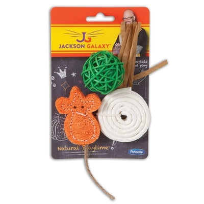Natural Playtime Cat Toy 3 pack Orange