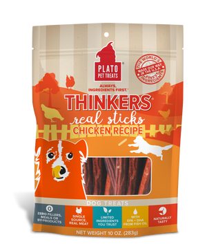 Plato Thinkers Chicken Dog Treats 10oz