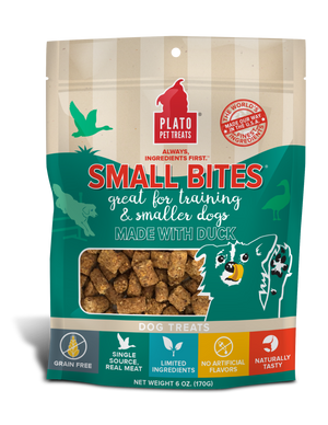 Plato Duck Small Bites Dog Treats