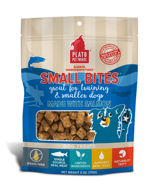 Plato Salmon Small Bites Dog Treats
