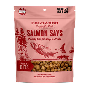 Polka Dog Salmon Says Crunchy Dog Treats for Cats & Dogs