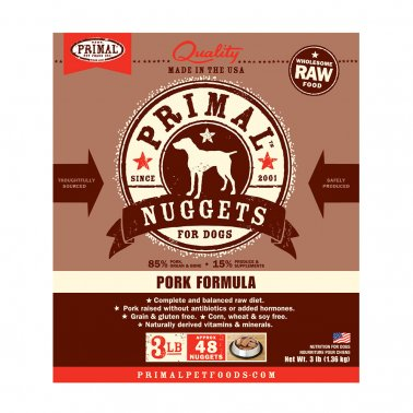 Primal Frozen Raw Pork Dog Food FOR CURBSIDE or LOCAL DELIVERY ONLY