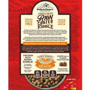 Stella & Chewy's Grass-Fed Beef Raw Coated Kibble Dog Food