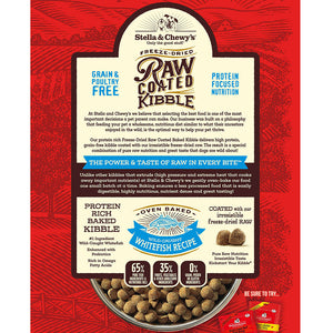 Stella & Chewy's Wild-Caught Whitefish Raw Coated Kibble Dog Food