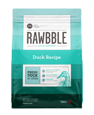 Rawbble Duck Recipe Dry Dog Food