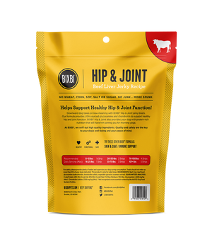 Bixbi Hip and Joint Beef Liver Jerky Dog Treats