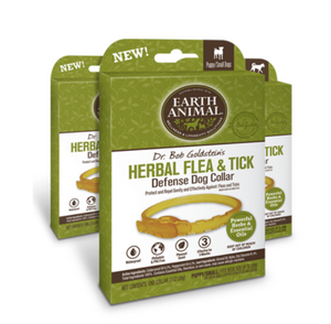 Earth Animal Herbal Flea & Tick Defense Collar for Dogs