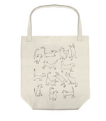 PETSHOP FUNNY CAT CANVAS TOTE