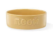 PETSHOP SCULPT MEOW OCHRE PET BOWL