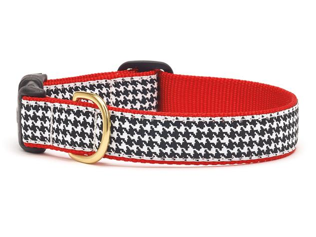Up Country Houndstooth Dog Collar