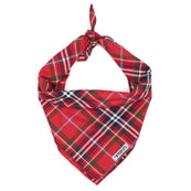 Worthy Dog Red Plaid Bandana