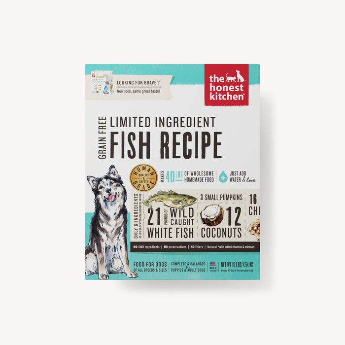 The Honest Kitchen Dehydrated Limited Ingredient Fish Recipe (Brave)