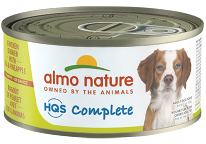 Almo Chicken Dinner with Egg and Pineapple Canned Dog Food 5.5oz