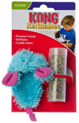 Kong Catnip Refillable Blue Mouse Cat Toy with Catnip