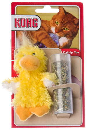 Kong Catnip Refillable Duckie Cat Toy with Catnip