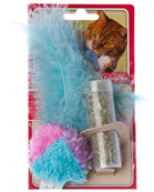 Kong Catnip Refillable Feather Tumbler Cat Toy with Catnip