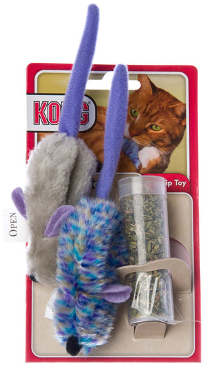 Kong Catnip Refillable Mice Cat Toy with Catnip
