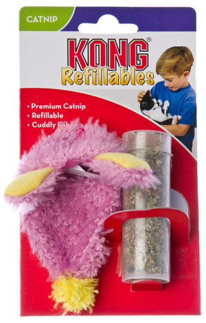 Kong Catnip Refillable Fuzzy Slipper Toy with Catnip