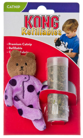 Kong Catnip Refillable Teddy Bear Cat Toy with Catnip