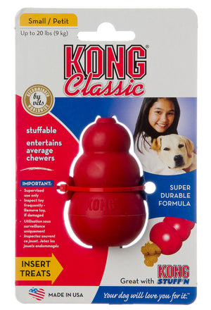 Kong Classic Red Dog Chew Toy with Treat Hole