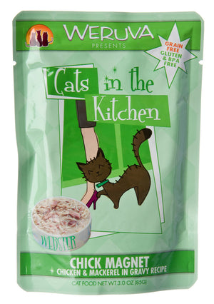 Weruva Chick Magnet Chicken and Mackerel Cat Food Pouches