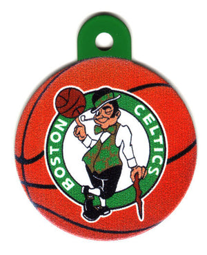 Boston Celtics Circle Shaped Pet ID Tag with Custom Engraving