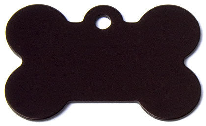 Aluminum Black Bone Shaped Dog ID Tag with Custom Engraving