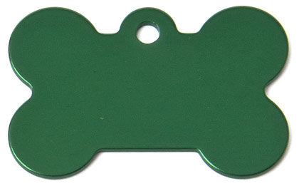 Aluminum Green Bone Shaped Dog ID Tag with Custom Engraving