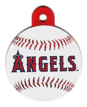 Anaheim Angels Circle Shaped Dog ID Tag with Custom Engraving