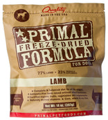 Primal Pet Foods Freeze Dried Lamb Formula Dog Food