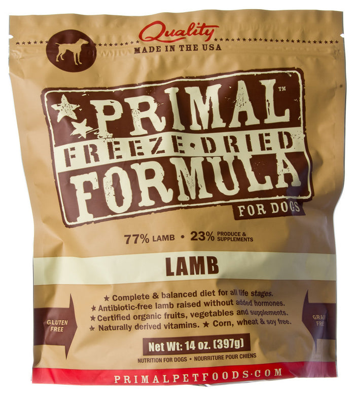 Primal Freeze Dried Lamb Formula Dog Food