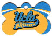 UCLA Bruins Bone Shaped Dog ID Tag with Custom Engraving