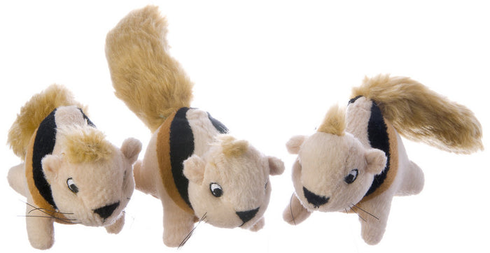 Kyjen Hide-a-Squirrel Replacement Squirrel 3-Pack Dog Toys
