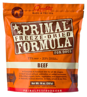 Prima Freeze-Dried Beef Raw Dog Food