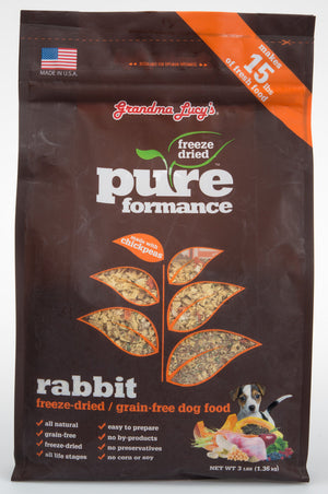 Grandma Lucy's Pureformance Freeze Dried Rabbit Dog Food