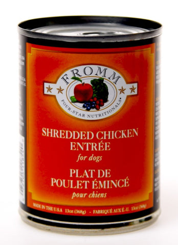 Fromm Four Star Shredded Chicken Canned Dog Food Case of 12