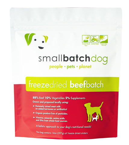 SmallBatch Freeze-Dried Beef Sliders Dog Food