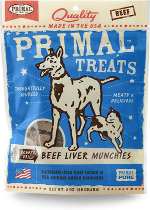 Primal Beef Liver Munchies Cat & Dog treats