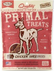 Primal Chicken Shredder Dog Treats