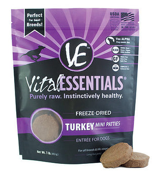 Vital Turkey Mini Patties 1lb