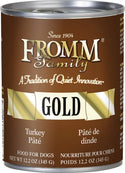 Fromm Gold Turkey Pate Dog Food Can 12.2oz