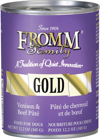 Fromm Gold Venison & Beef Pate Dog Food Can 12.2oz
